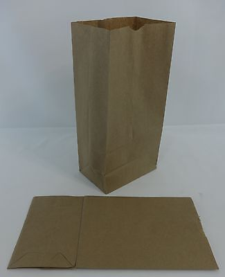 Qty 100 #8 Paper Brown Kraft Grocery Merchandise Retail Shopping Bags