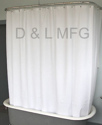 Heavy Duty Clawfoot Tub Shower Curtain/White without magnets/CO, used for sale  Auburn