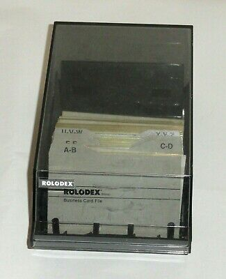 Rolodex Business Card File Cbc-200 Black Index Tabs Vintage For Business Cards