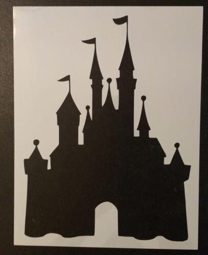 """Disney Castle 8.5"""" x 11"""" Custom Stencil FAST FREE SHIPPING"""