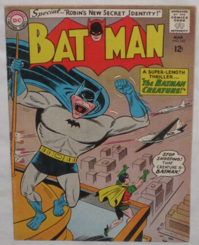 "Silver Age  BATMAN #162 ""The BATMAN CREATURE!""  FN+"