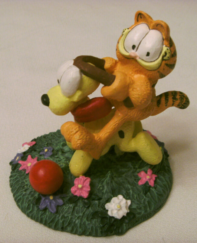 "Danbury Mint Garfield Figurine ""Easy Rider"" 1993, Mint Condition"