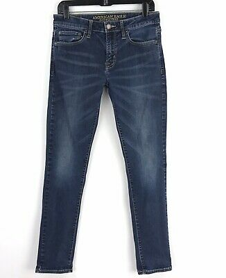 American Eagle Womens Extreme Flex Skinny Jeans 31x32 Distressed Actual - Extreme Eagle