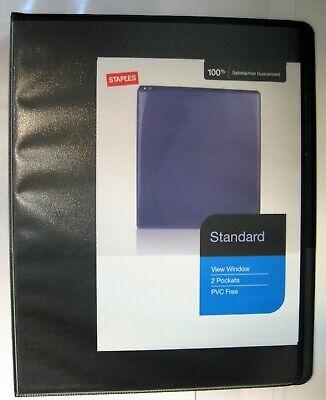 Staples Mini View Window Binder 12 Round Ring 5.5 X 8.5 Pvc Free Black 0.5