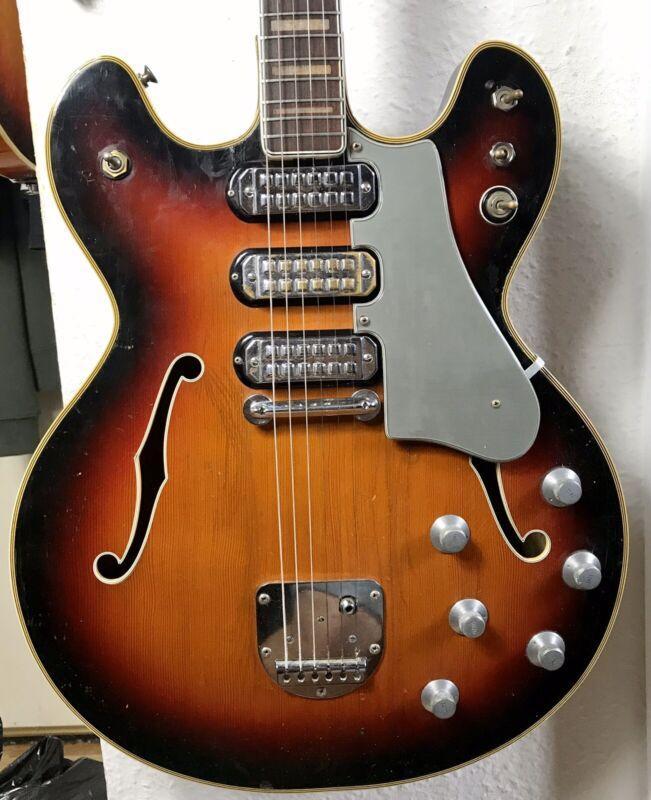 dynacord dc-3v vintage electric guitar 1964 hollow rare