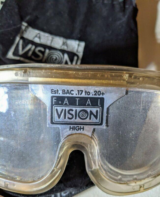 Fatal Vision Alcohol Impairment Simulation Goggle White Label HIGH BAC.17-.20 JL