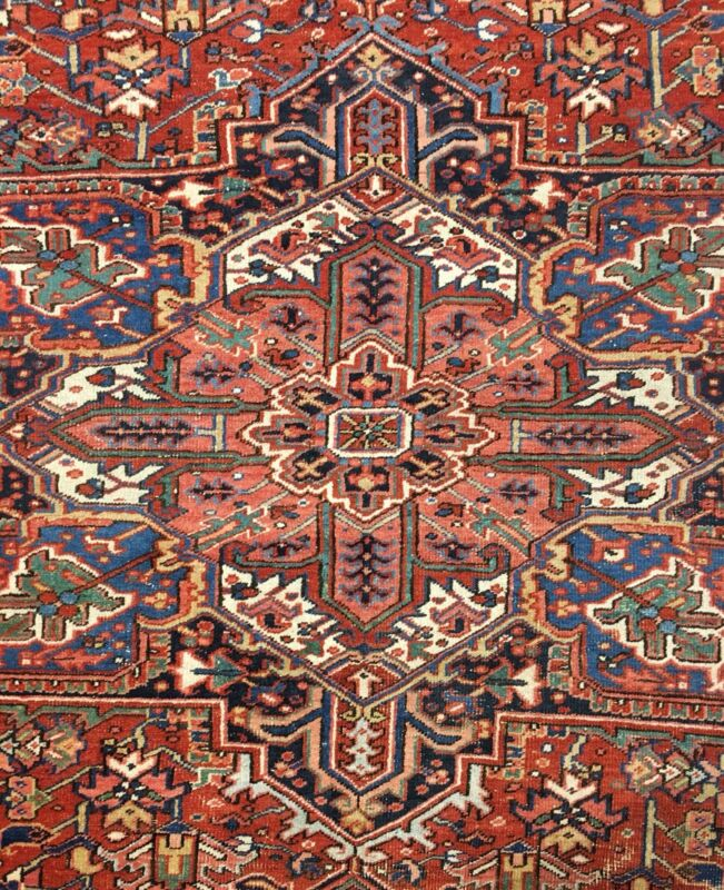 Terrific Tribal - 1920s Antique Oriental Rug - Nomadic Carpet - 9.6 X 11.4 Ft.