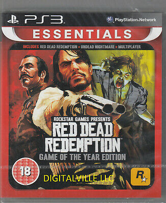 Red Dead Redemption Game of the Year GOTY PS3 PlayStation 3 Brand New Sealed