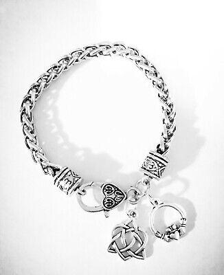 Celtic Knot Charm Bracelet Claddagh Irish Friendship Loyalty Gift Jewelry ()
