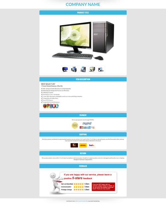 eBay Listing HTML Template, eBay Auction Templates, eBay Listing Templates