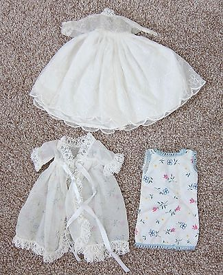 1950's Cosmopolitan Ginger Doll Clothes~NIGHTGOWN/ROBE & WEDDING DRESS~EVC