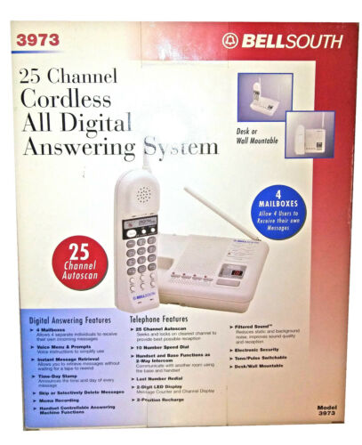 Bellsouth 25 channel Cordless all digital answering system # 3973 USED