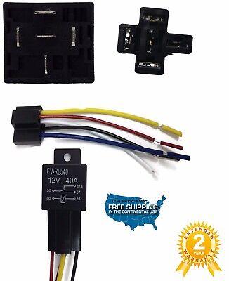 50 Sets Automotive Relay 5 Wire Harness Socket Car Vehicle 12v 3040 Amp Spdt