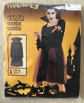 Vampir Gr. S (36/38) Kleid Karneval Fasching NEU&OVP (Damen Vampir Kostüm)