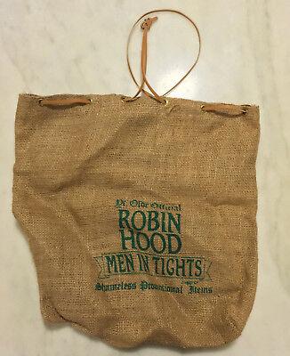 ROBIN HOOD MEN IN TIGHTS (1993) Burlap Bag; Vintage Movie Promo; Mel Brooks RARE