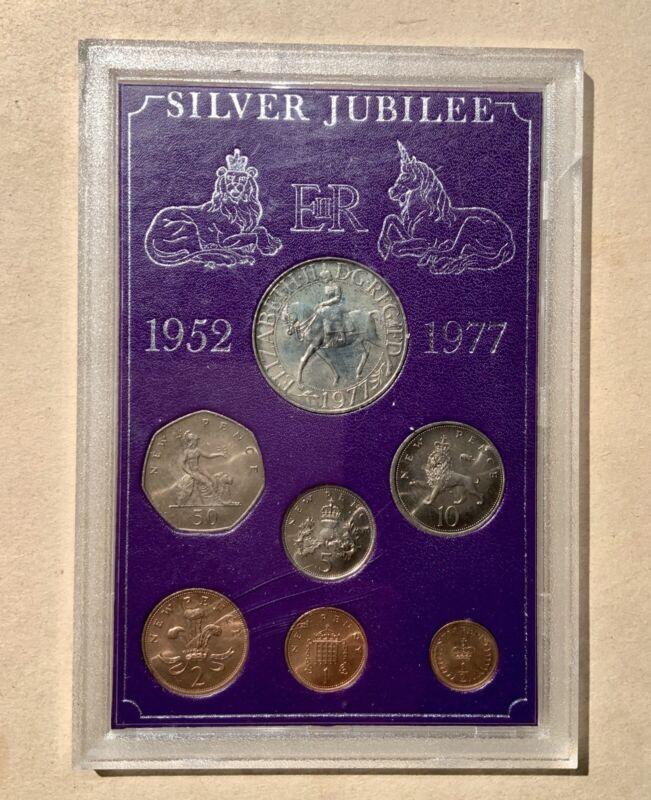 Great Britain 1952 - 1977 Queen Elizabeth II Silver Jubilee 7-Coin Set