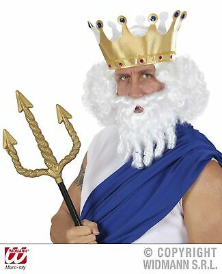 rt - König Neptun- Poseidon - Zeusperücke Olymp (König Perücke)