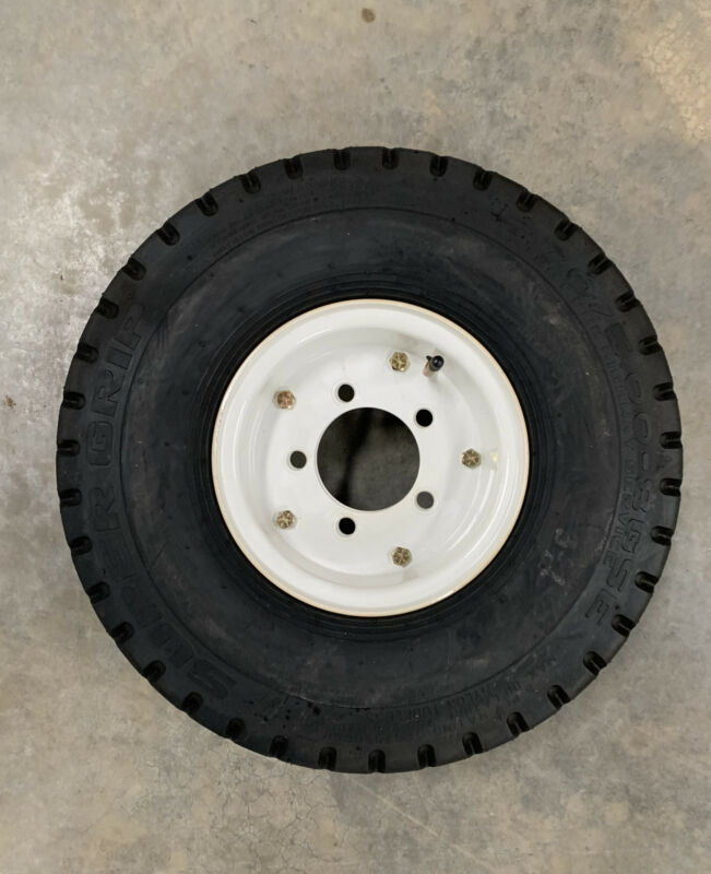 1x Super Grip 5.70/5.00-8 GSE 5 Lug Wheel Rim & Pneumatic Tire 8 PLY