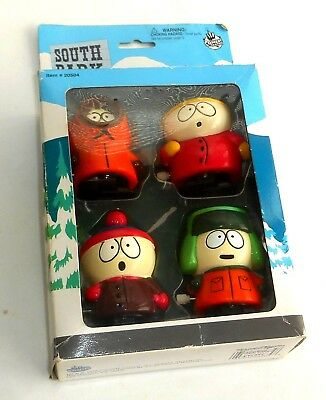 Vintage 1998 Comedy Central South Park ~ WIND-UP FIGURINE SET ~ Boxed