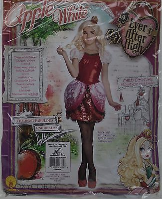 Halloween Ever After High Apple White Girls Costume Size Medium 8-10 Ages 5-7
