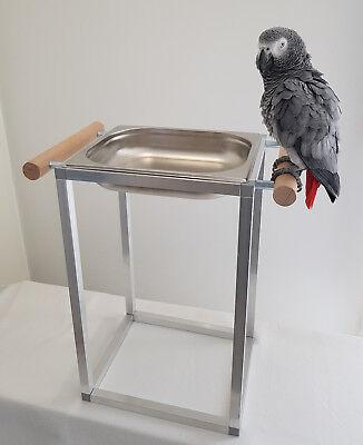 Papageien BADEWANNE Sittiche Vögel Edelstahl FREISTEHEND **NEU**