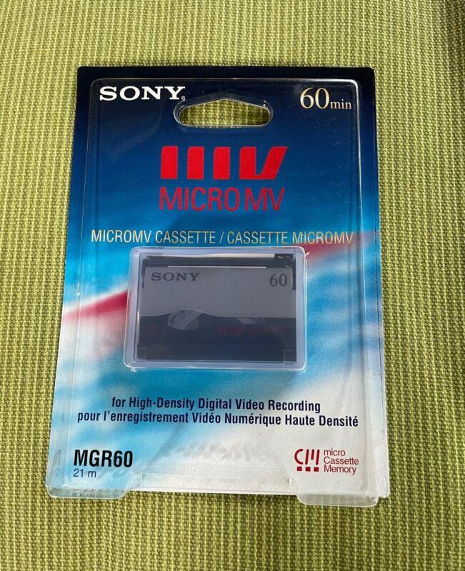 Sony MGR60 60-minute MicroMV Video Cassette NOS Original Owner