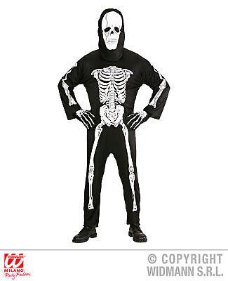 WIDMANN Costume vestito scheletro carnevale halloween uomo  mod. 3928_