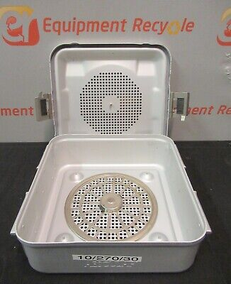 Aesculap Ag Sterilization Tray Case Lid Stainless Surgical Instrument 11x11x4