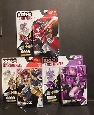 Kre-o TRANSFORMERS Lot 3~ Ironhide ~ Grimlock~ Shockwave ~ 🔥