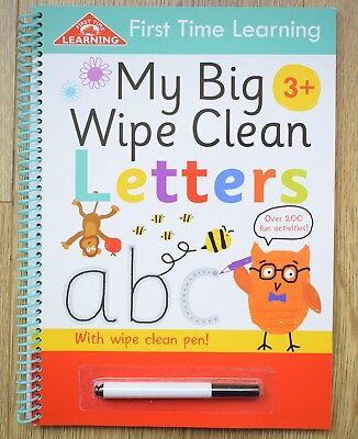 Learn to write letters handwriting my big wipe clean book children 3+ Pre school