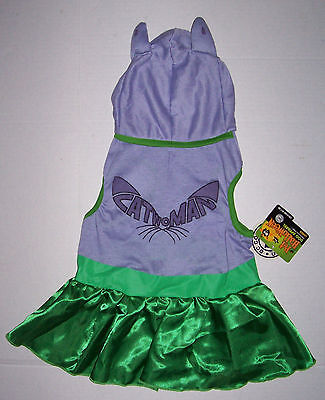 DC Comics Catwoman Cat Woman Dog Costume Dress Size Small NWT Batman