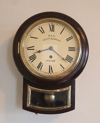 "English fusee dial clock 7"" Gillet & Bland & Co, Elliott Mvmt"