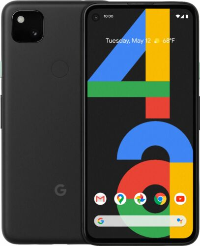 Google Pixel 4a 128GB (Unlocked) Android Smartphone - Just Black 1