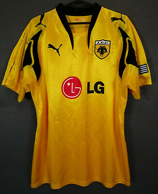 PUMA FC AEK ATHENS 2007/2008 HOME SOCCER FOOTBALL SHIRT JERSEY MAILLOT SIZE L image