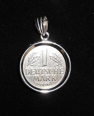 Münzfassung 925/000 Silber rhodiniert mit 1 Deutschen Mark von 1979