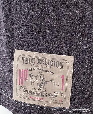 TRUE RELIGION Mens T-Shirt TRUE SKULL Washed Black $89 Jeans NWT