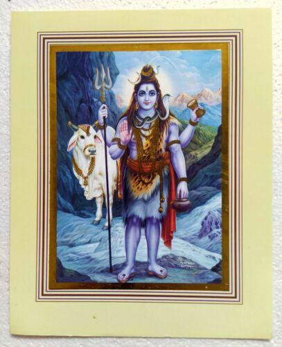 "High Quality Poster Hindu God Lord Shiv Shiva Mahadev Shankar Nandi 8"" X 10"""