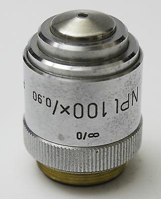 Leitz Npl 100x 0.90 P Microscope Objective Pol
