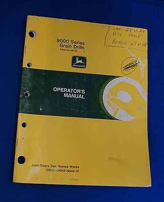 John Deere 9000 Series Grain Drills Operators Manual