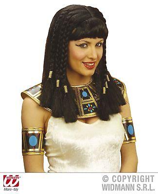 Perücke schwarz Kleopatra mit Pony Cleopatra Perücke - Königin von Ägypten ()