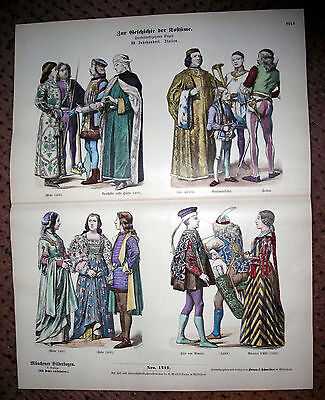 15th Century Italy-Lord Rimini-Beatrice-Soldiers-Podesta -1880 Costumes