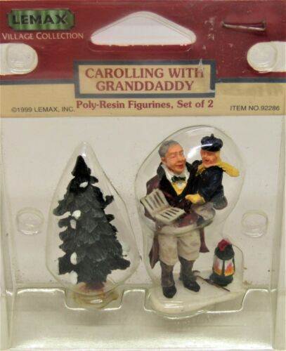 """Lemax Village Collection """"Carolling With Granddaddy"""" Poly Resin Figurine #92286"""