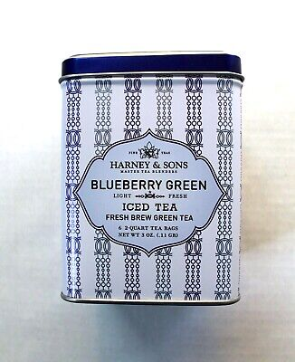 Harney & Sons Blueberry Green Iced Tea Fresh Brew Green Tea in Sealed Tin Kosher ()
