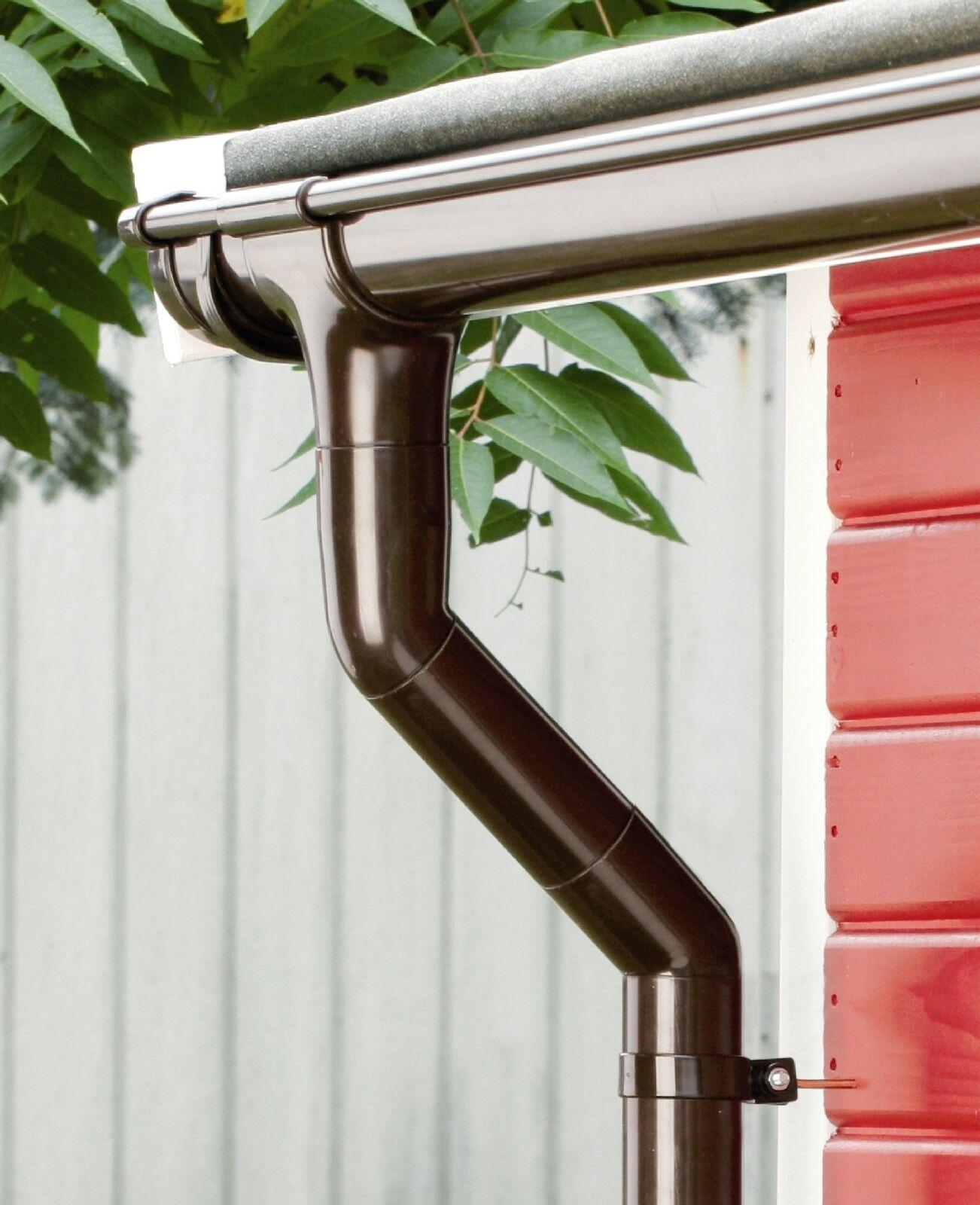 Kunststoff-Rinnenset RG 75 4 m von Marley Dachrinne für Gartenhaus mit Pultdach