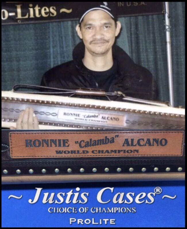 Free shipping  Jack Justis Pro-Lites World Champion Ronnie Alcano 2x4 Cue Case