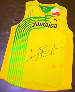Authentic Usain Bolt Signed Singlet Brighton East Bayside Area Preview