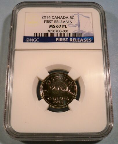 2014 CANADA 5c NGC MS 67 PL NICKEL FIVE CENT COIN MS 67 PROOF LIKE