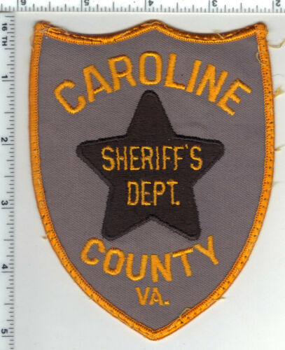 Caroline County Sheriff (Virginia) Uniform Take-Off Shoulder Patch  1980