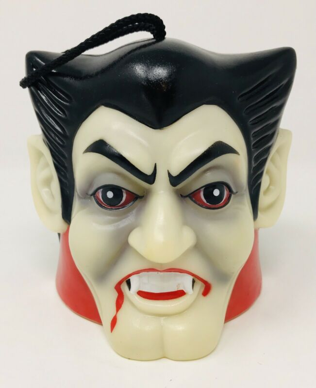 Vintage Retro Dracula Vampire Bobble Wobble Head Sounds Halloween Motion Sensor