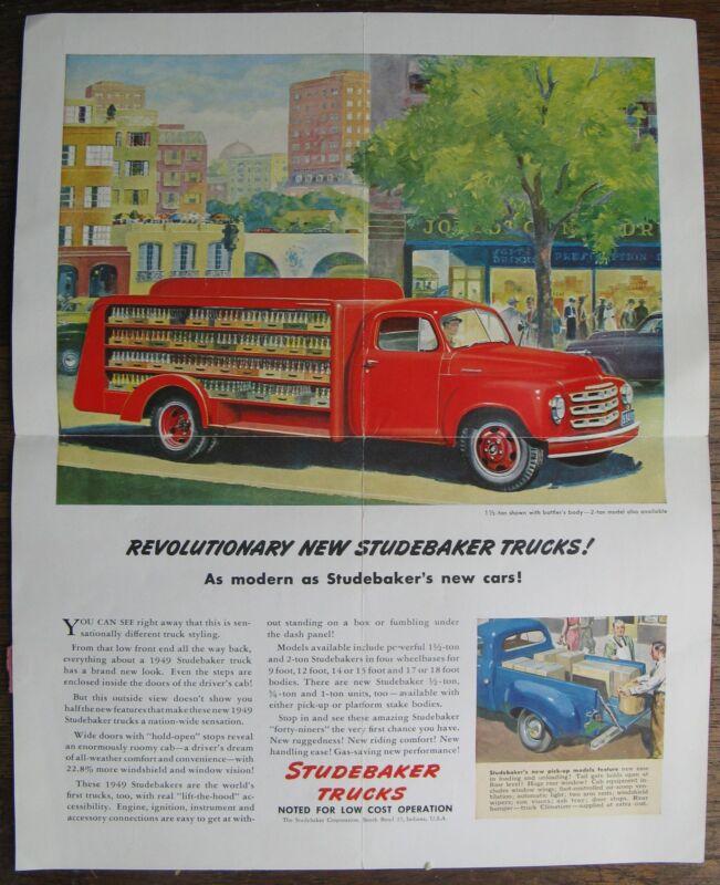 Arlington, Ma. - 1949 Arlington Automoblie Corp. Studebaker Trucks Poster/Mailer